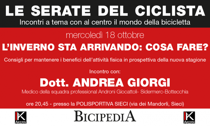 Serata di Bicipedia  con il Dott. Andrea Giorgi