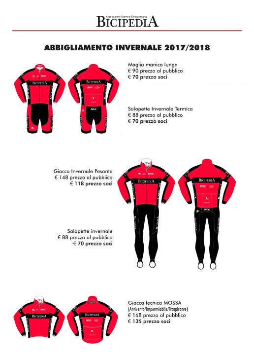 Abbigliamento Invernale Bicipedia Team BMC